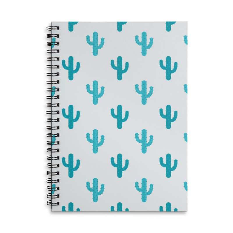 Cactuses Pattern Accessories Lined Spiral Notebook by abstractocreate's Artist Shop