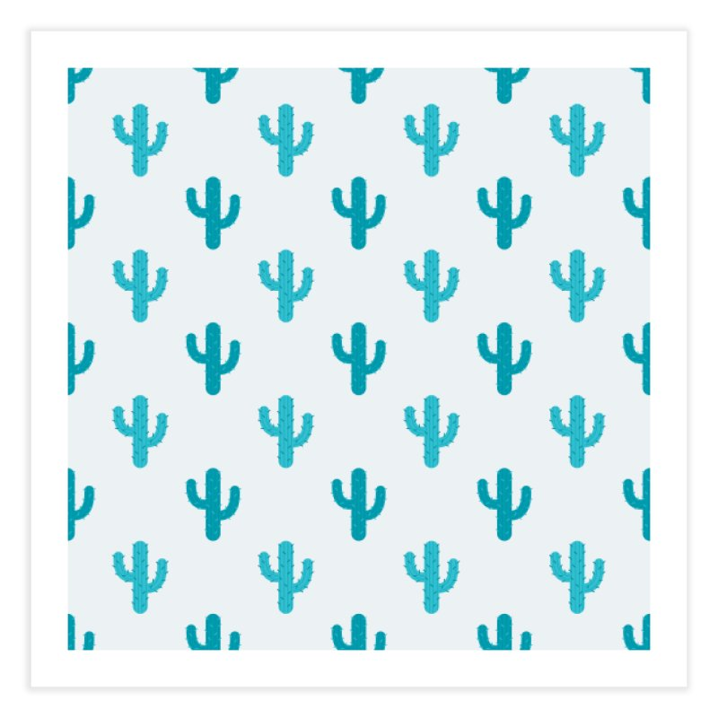 Cactuses Pattern Home Fine Art Print by abstractocreate's Artist Shop