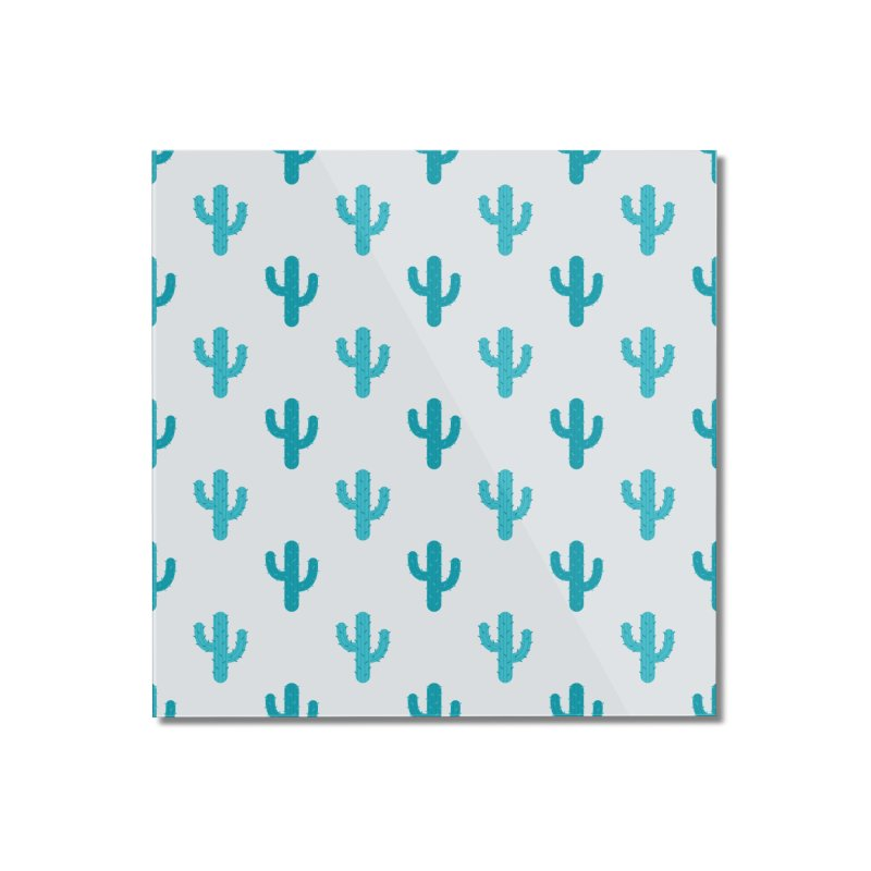 Cactuses Pattern Home Mounted Acrylic Print by abstractocreate's Artist Shop