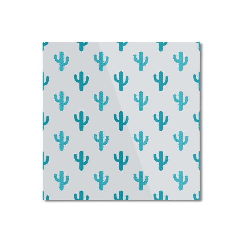 Cactuses Pattern Home Mounted Aluminum Print by abstractocreate's Artist Shop