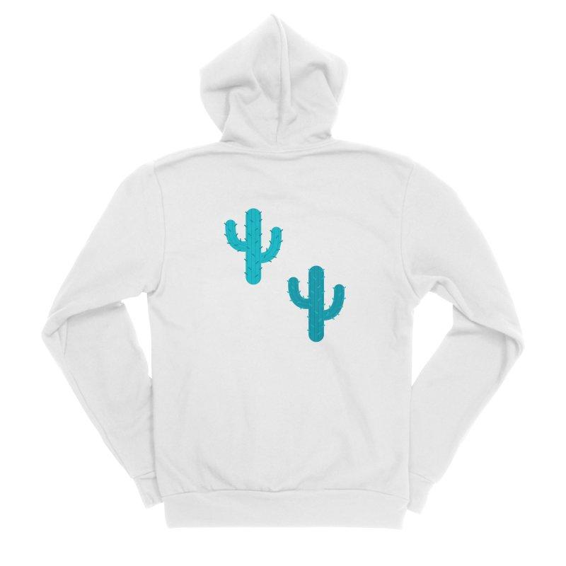Cactuses Pattern Men's Sponge Fleece Zip-Up Hoody by abstractocreate's Artist Shop