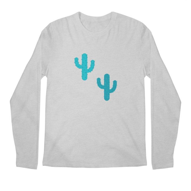 Cactuses Pattern Men's Regular Longsleeve T-Shirt by abstractocreate's Artist Shop