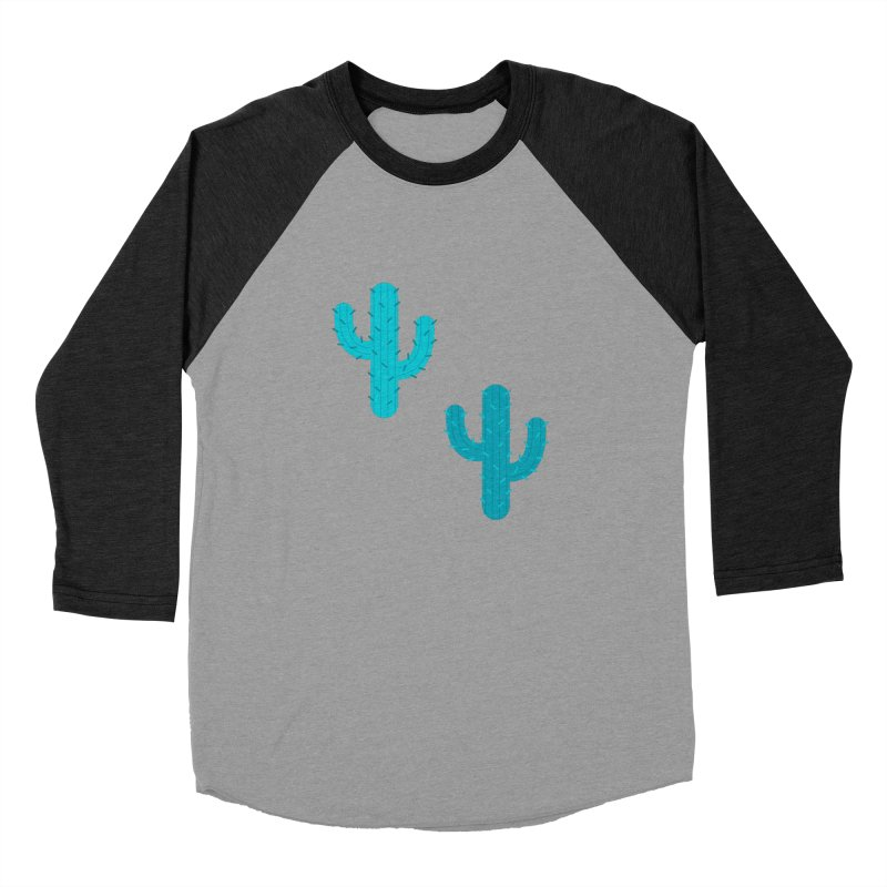 Cactuses Pattern Men's Baseball Triblend Longsleeve T-Shirt by abstractocreate's Artist Shop