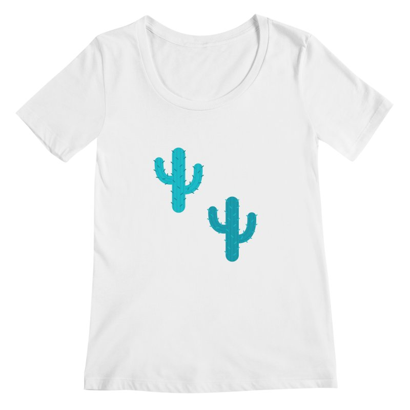 Cactuses Pattern Women's Regular Scoop Neck by abstractocreate's Artist Shop