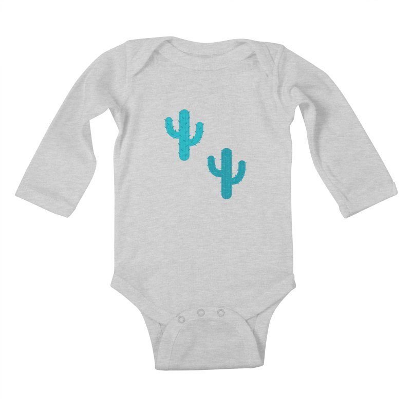 Cactuses Pattern Kids Baby Longsleeve Bodysuit by abstractocreate's Artist Shop