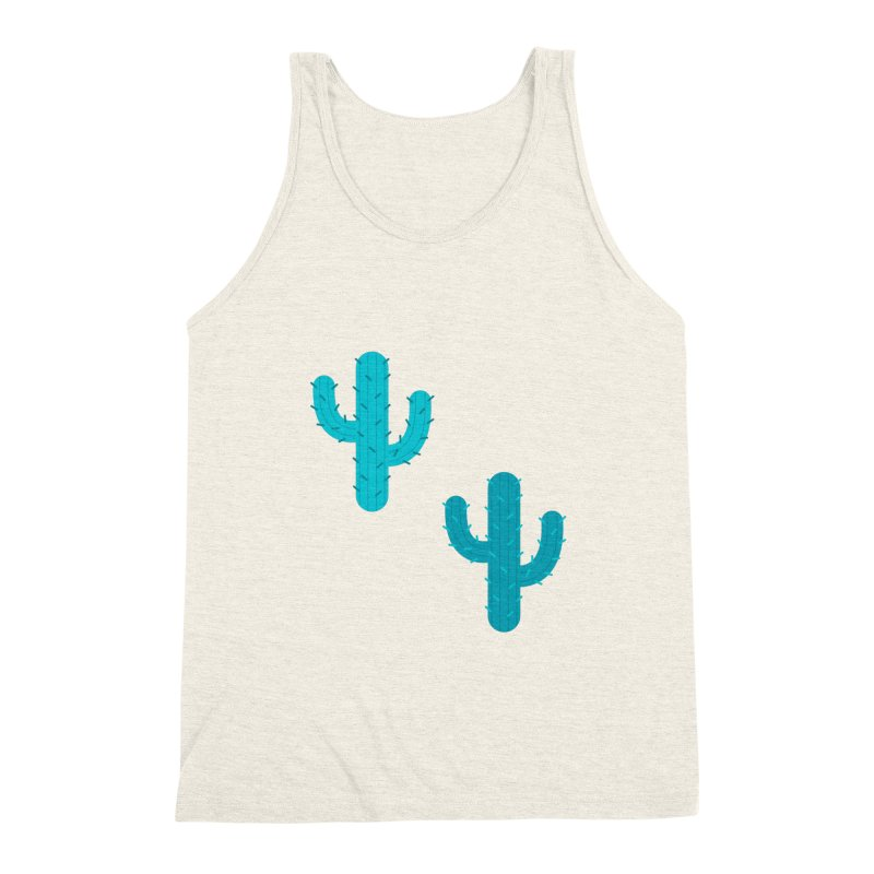 Cactuses Pattern Men's Triblend Tank by abstractocreate's Artist Shop