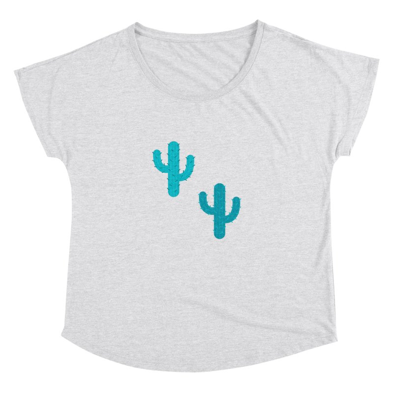 Cactuses Pattern Women's Dolman Scoop Neck by abstractocreate's Artist Shop