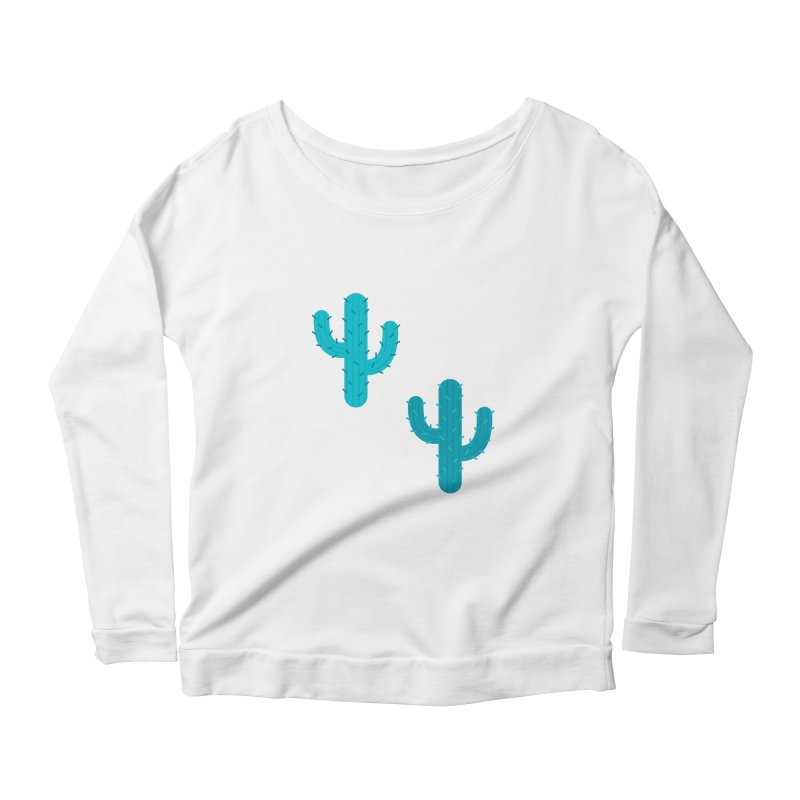 Cactuses Pattern Women's Scoop Neck Longsleeve T-Shirt by abstractocreate's Artist Shop