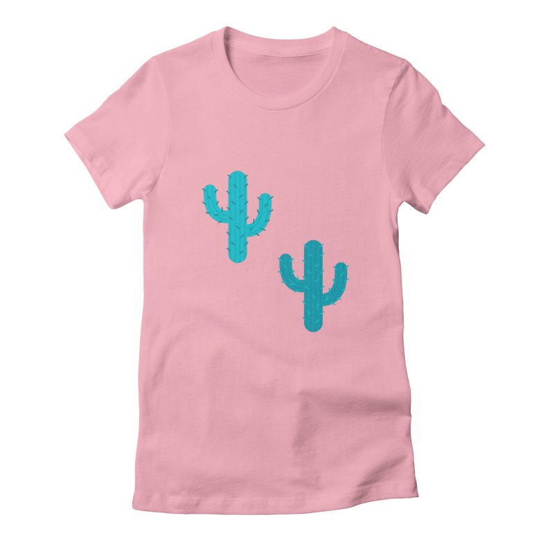 Cactuses Pattern Women's Fitted T-Shirt by abstractocreate's Artist Shop