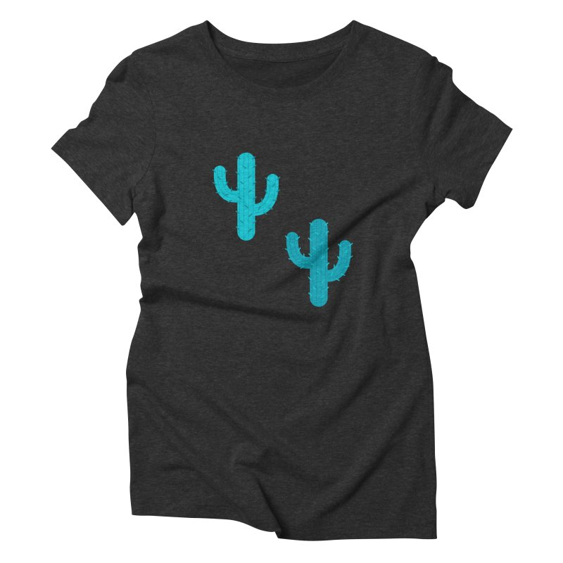 Cactuses Pattern Women's Triblend T-Shirt by abstractocreate's Artist Shop