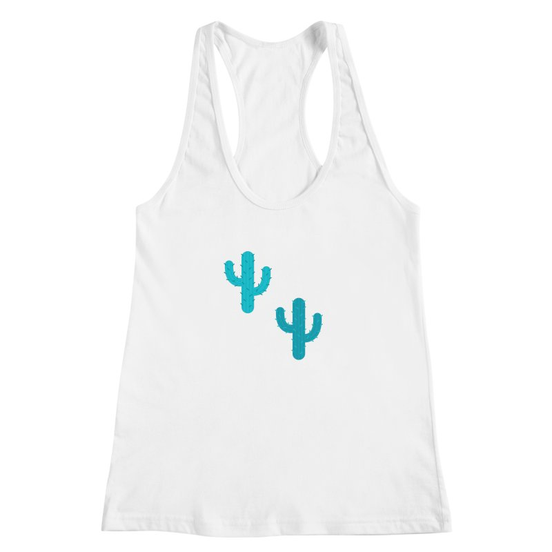 Cactuses Pattern Women's Racerback Tank by abstractocreate's Artist Shop