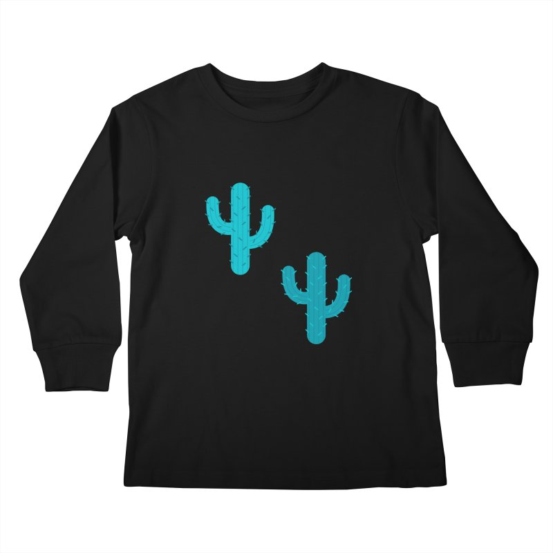 Cactuses Pattern Kids Longsleeve T-Shirt by abstractocreate's Artist Shop