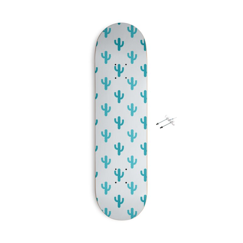 Cactuses Pattern Accessories With Hanging Hardware Skateboard by abstractocreate's Artist Shop