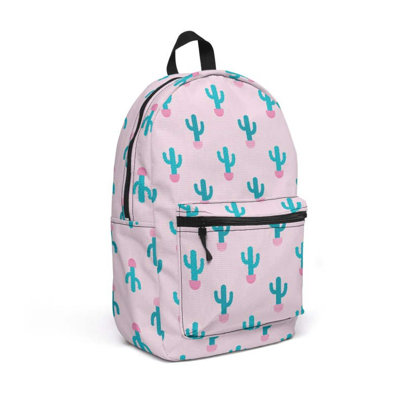 Succulent Cactus Pattern Accessories Backpack Bag by abstractocreate's Artist Shop