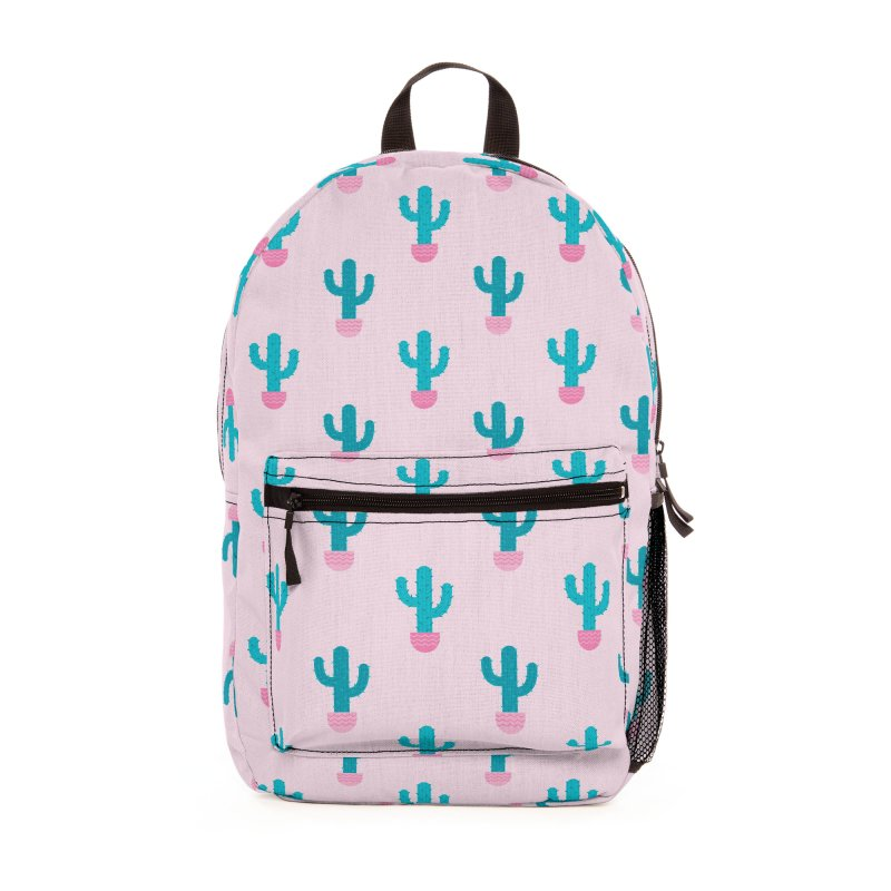Succulent Cactus Pattern Accessories Bag by abstractocreate's Artist Shop