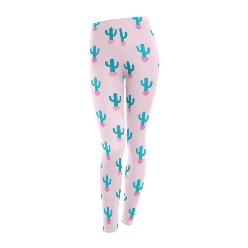 Succulent Cactus Pattern Women's Leggings Bottoms by abstractocreate's Artist Shop