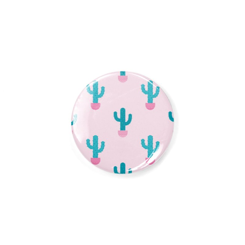 Succulent Cactus Pattern Accessories Button by abstractocreate's Artist Shop