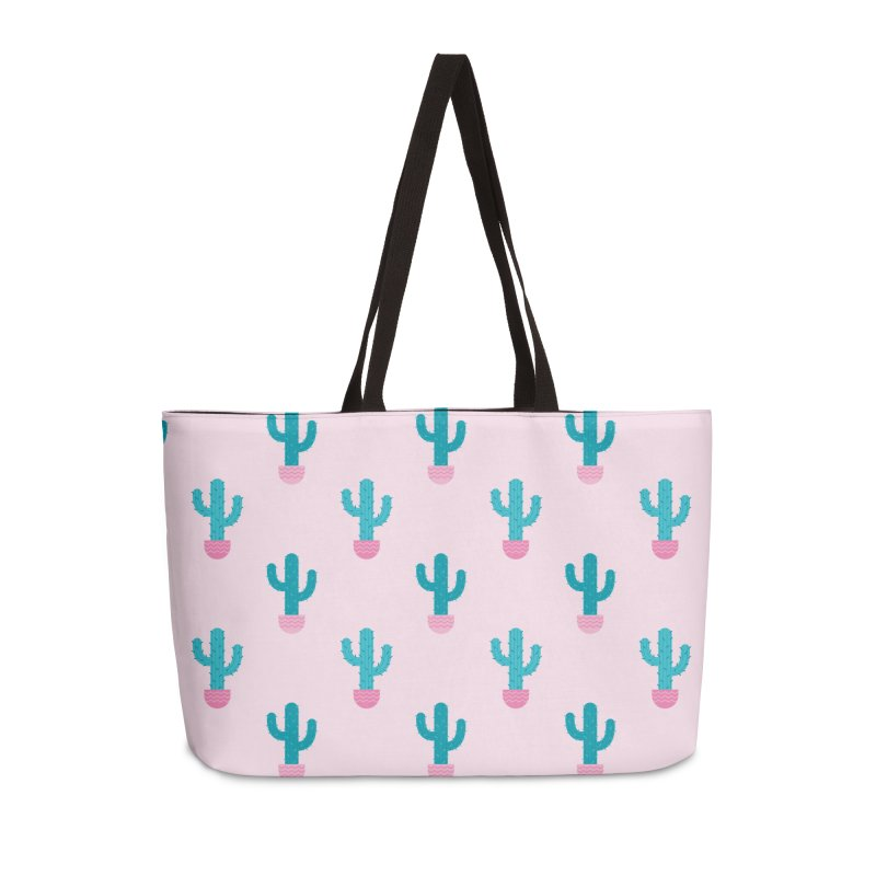 Succulent Cactus Pattern Accessories Weekender Bag Bag by abstractocreate's Artist Shop
