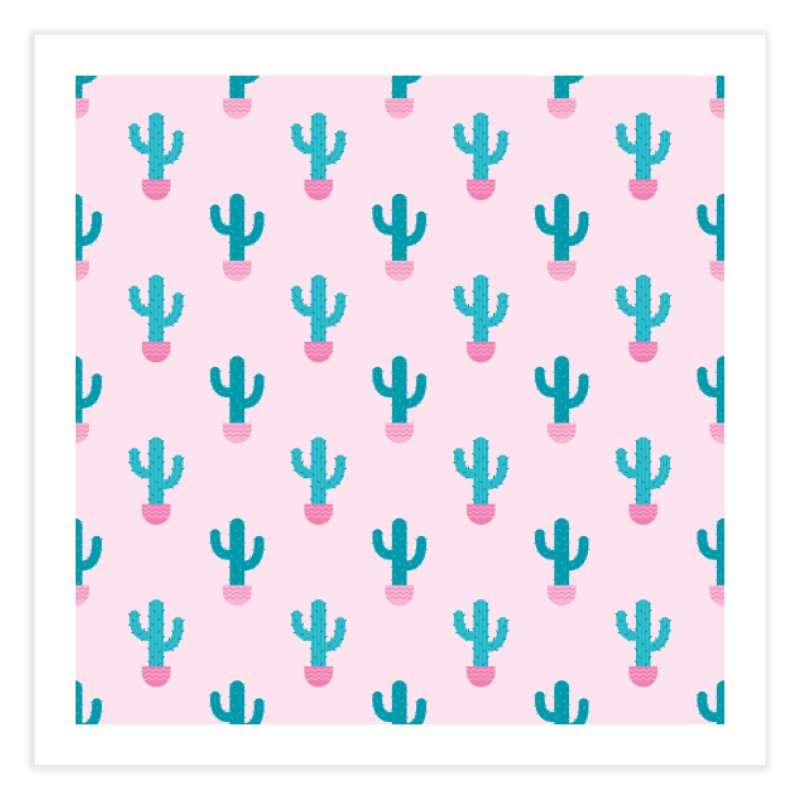 Succulent Cactus Pattern Home Fine Art Print by abstractocreate's Artist Shop