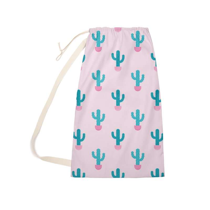Succulent Cactus Pattern Accessories Laundry Bag Bag by abstractocreate's Artist Shop