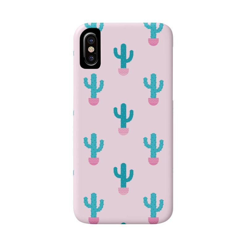 Succulent Cactus Pattern Accessories Phone Case by abstractocreate's Artist Shop
