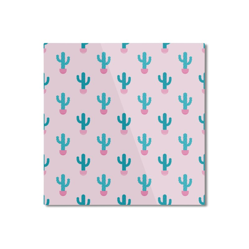 Succulent Cactus Pattern Home Mounted Aluminum Print by abstractocreate's Artist Shop