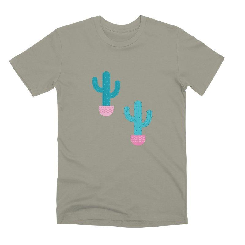 Succulent Cactus Pattern Men's Premium T-Shirt by abstractocreate's Artist Shop