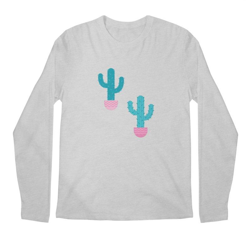 Succulent Cactus Pattern Men's Regular Longsleeve T-Shirt by abstractocreate's Artist Shop
