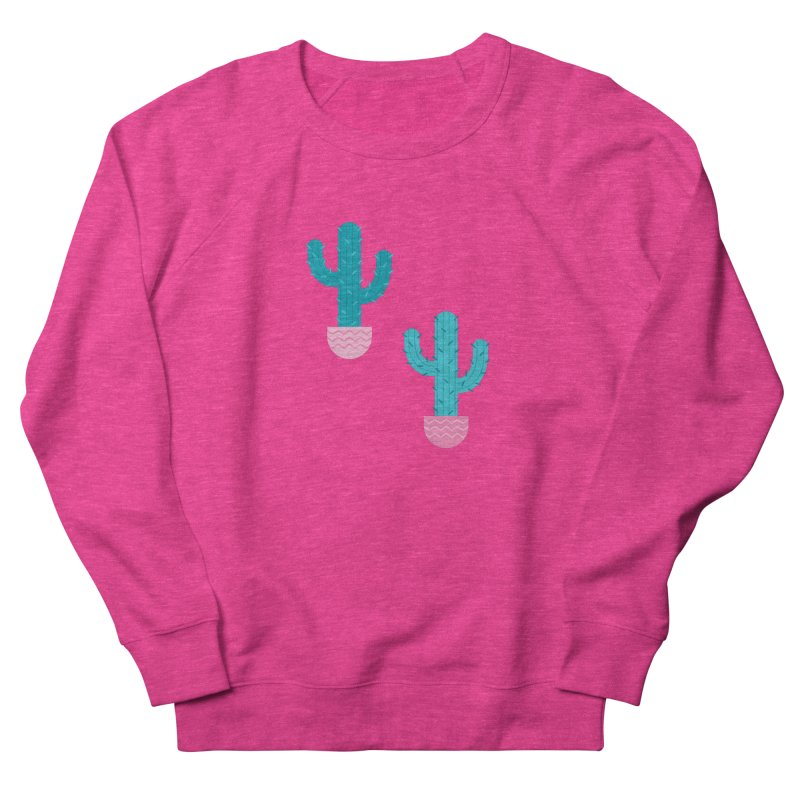 Succulent Cactus Pattern Women's French Terry Sweatshirt by abstractocreate's Artist Shop