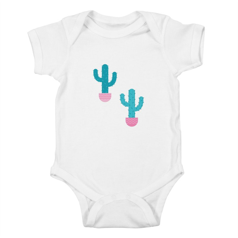 Succulent Cactus Pattern Kids Baby Bodysuit by abstractocreate's Artist Shop