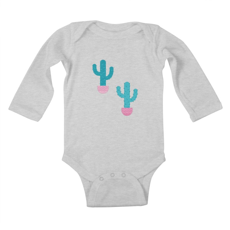 Succulent Cactus Pattern Kids Baby Longsleeve Bodysuit by abstractocreate's Artist Shop