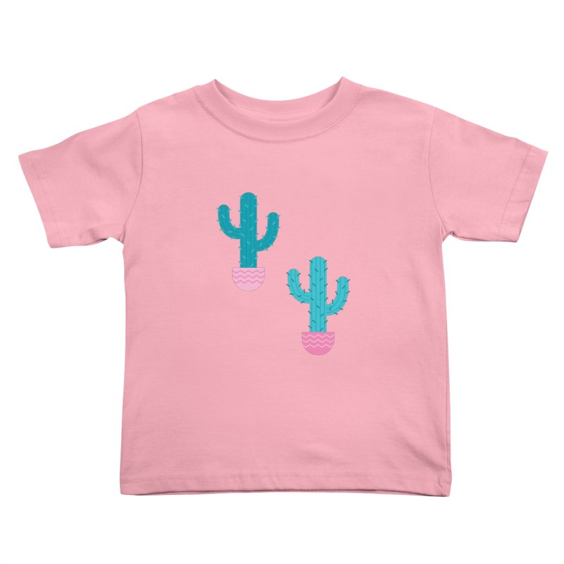 Succulent Cactus Pattern Kids Toddler T-Shirt by abstractocreate's Artist Shop