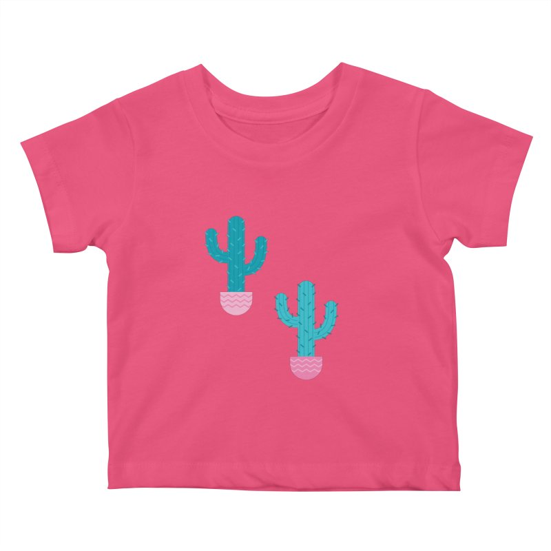 Succulent Cactus Pattern Kids Baby T-Shirt by abstractocreate's Artist Shop