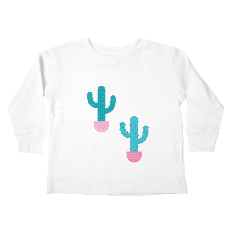 Succulent Cactus Pattern Kids Toddler Longsleeve T-Shirt by abstractocreate's Artist Shop