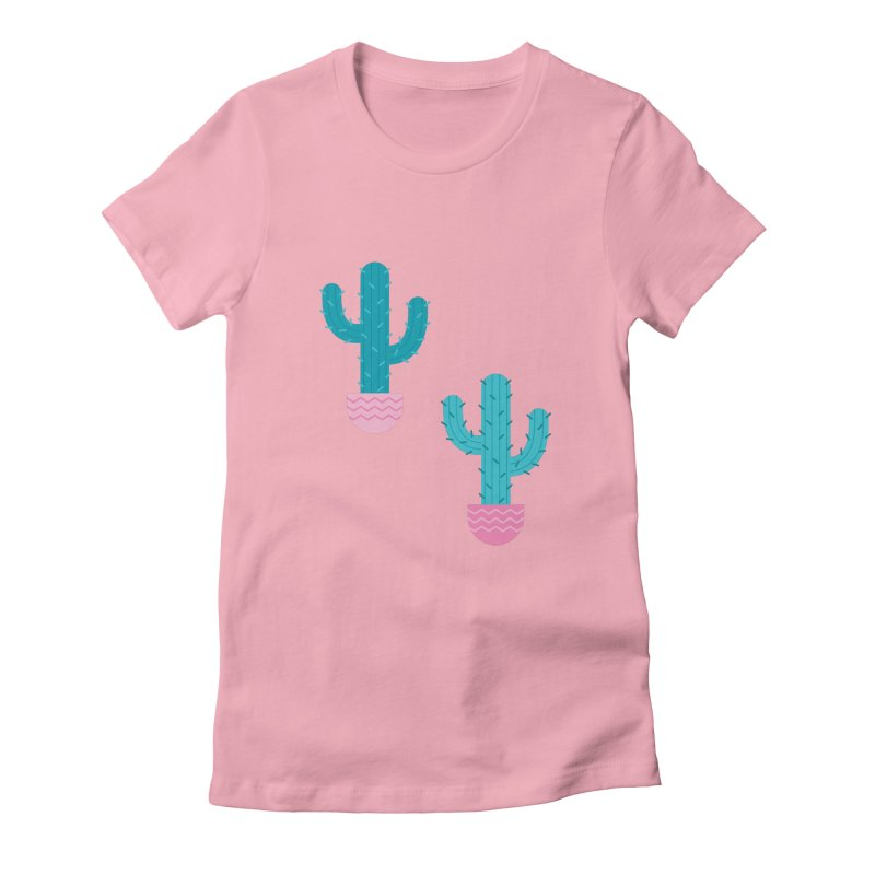 Succulent Cactus Pattern Women's Fitted T-Shirt by abstractocreate's Artist Shop