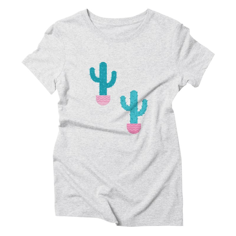 Succulent Cactus Pattern Women's Triblend T-Shirt by abstractocreate's Artist Shop