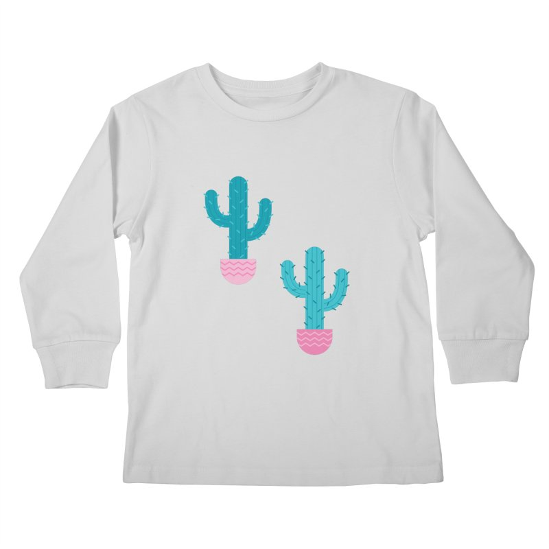 Succulent Cactus Pattern Kids Longsleeve T-Shirt by abstractocreate's Artist Shop