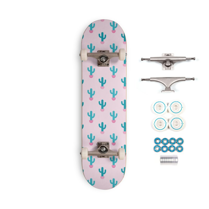Succulent Cactus Pattern Accessories Skateboard by abstractocreate's Artist Shop