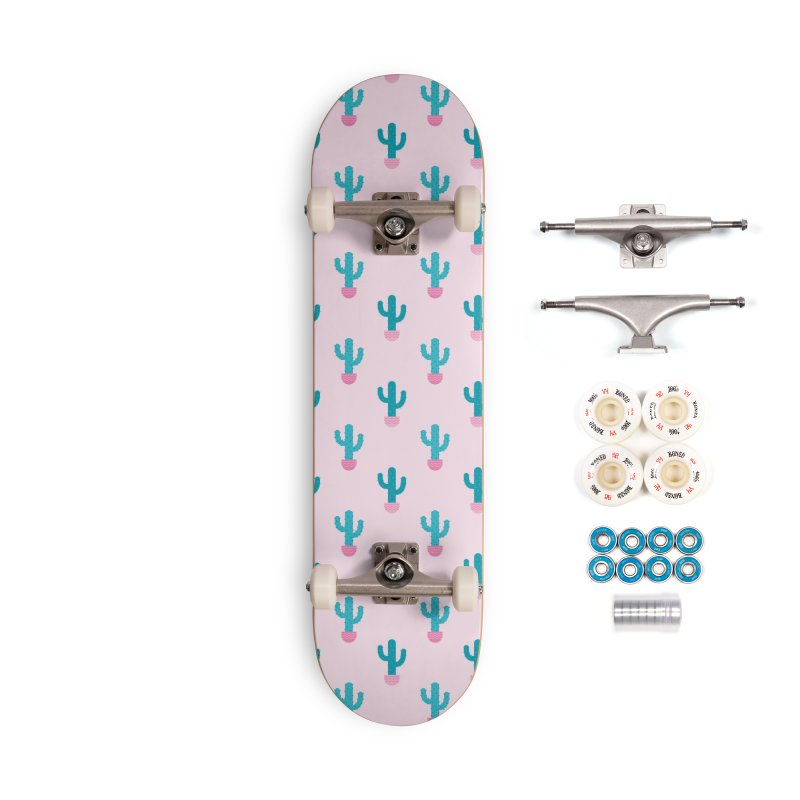 Succulent Cactus Pattern Accessories Complete - Premium Skateboard by abstractocreate's Artist Shop