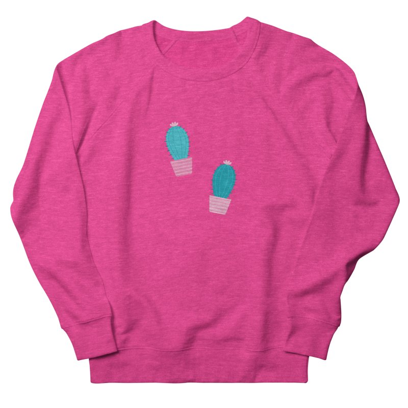 Succulent Cacti Plant Pattern Women's French Terry Sweatshirt by abstractocreate's Artist Shop
