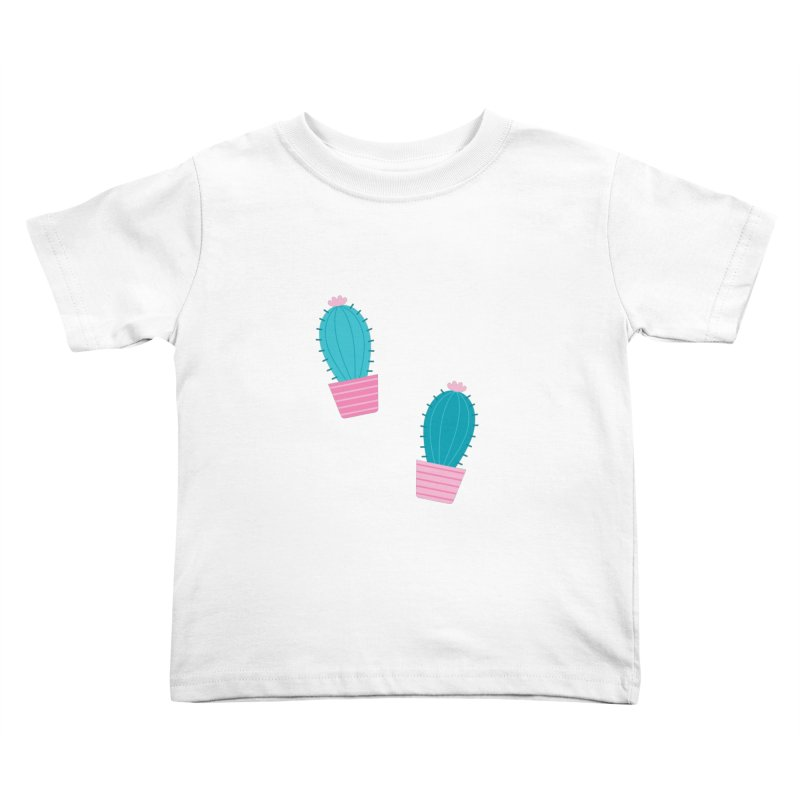Succulent Cacti Plant Pattern Kids Toddler T-Shirt by abstractocreate's Artist Shop