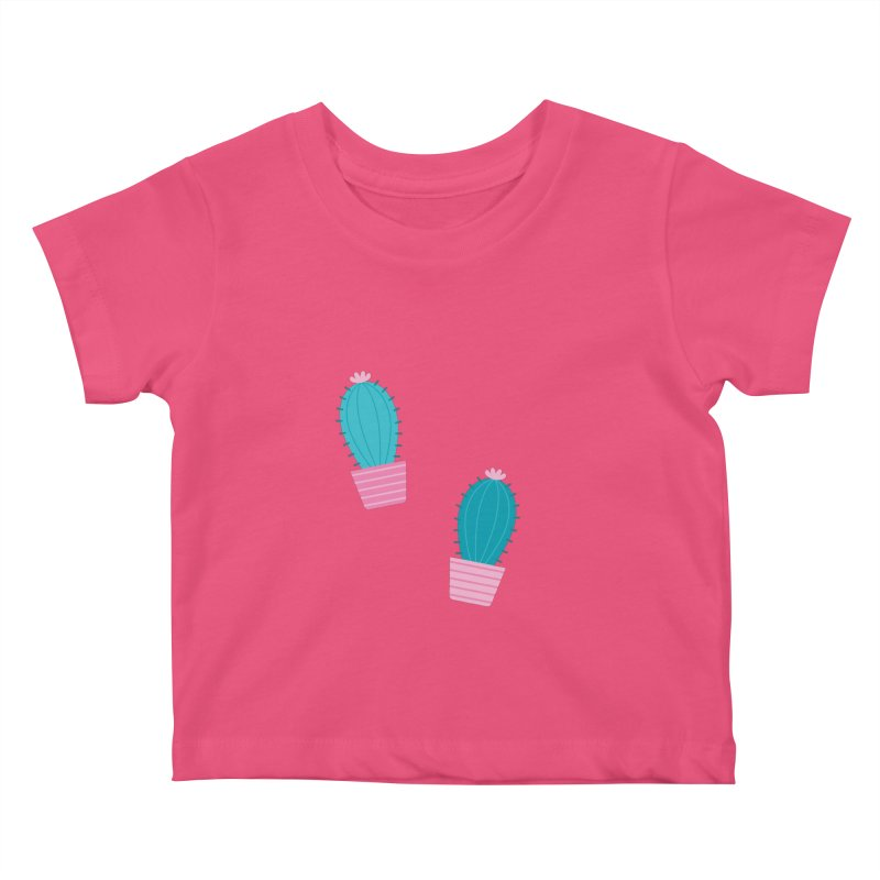 Succulent Cacti Plant Pattern Kids Baby T-Shirt by abstractocreate's Artist Shop