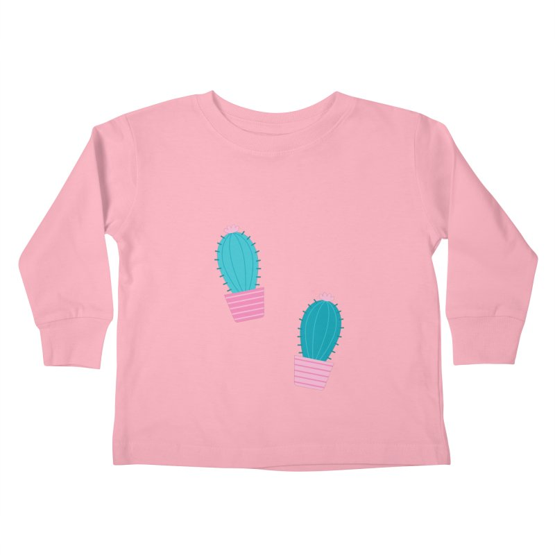 Succulent Cacti Plant Pattern Kids Toddler Longsleeve T-Shirt by abstractocreate's Artist Shop