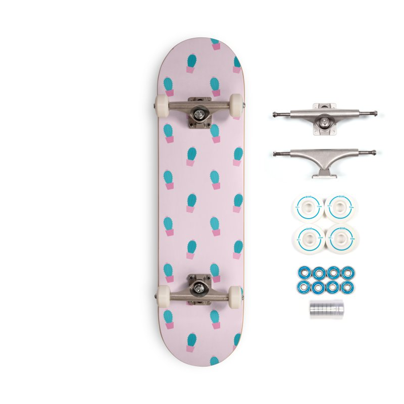 Succulent Cacti Plant Pattern Accessories Skateboard by abstractocreate's Artist Shop