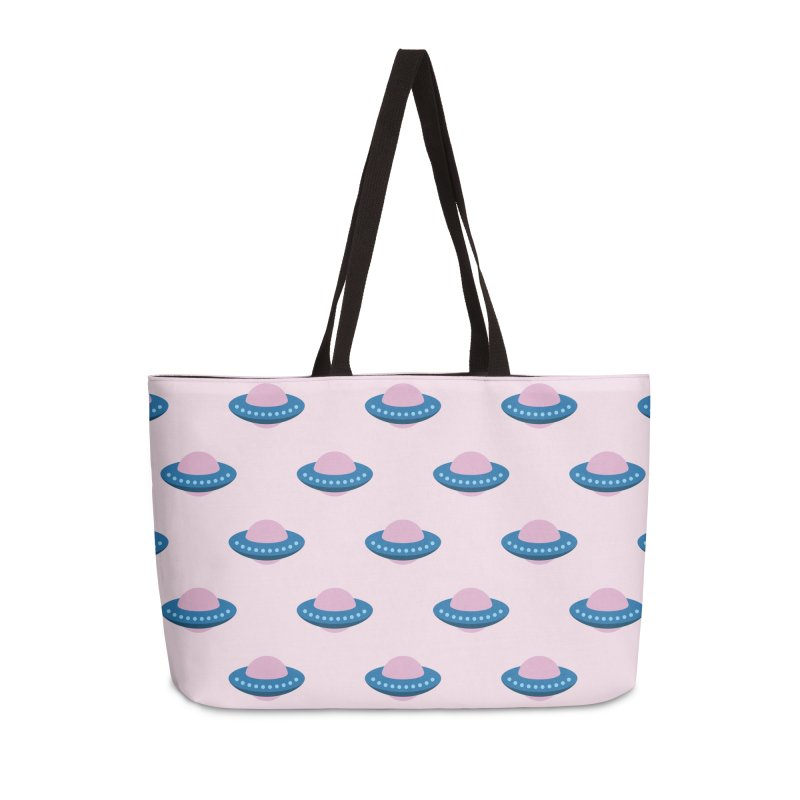 UFO Spaceship Pattern Accessories Weekender Bag Bag by abstractocreate's Artist Shop