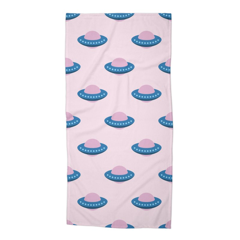UFO Spaceship Pattern Accessories Beach Towel by abstractocreate's Artist Shop