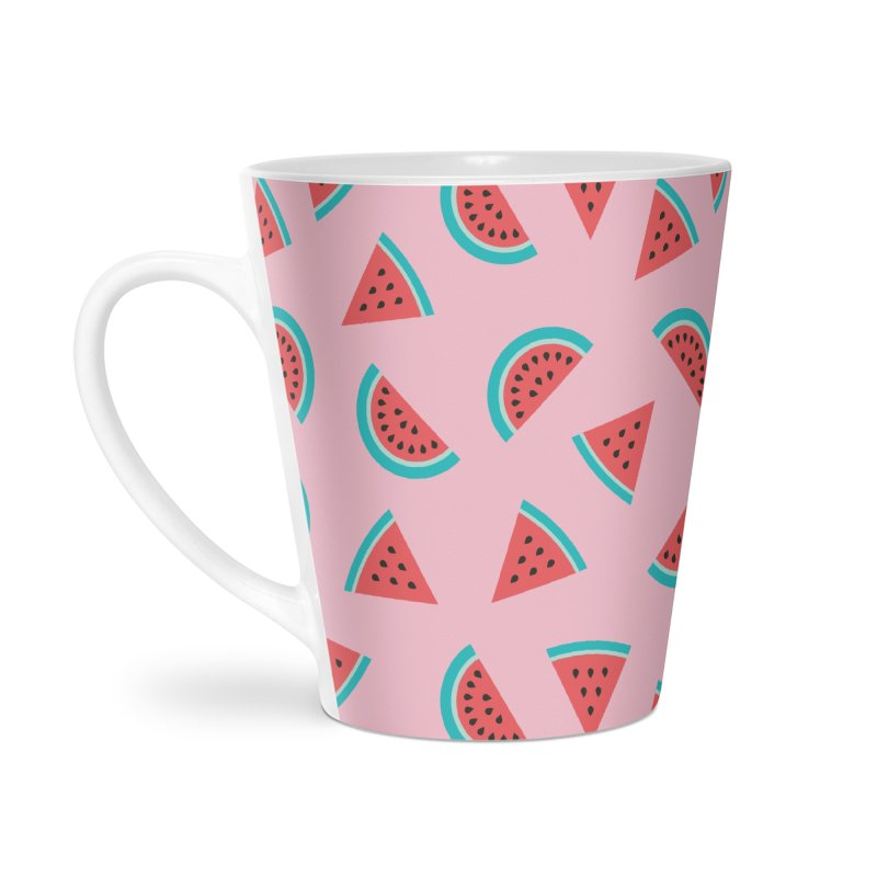 Watermelon Fruit Pattern Accessories Latte Mug by abstractocreate's Artist Shop