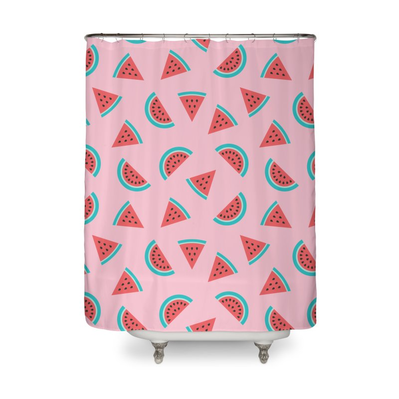 Watermelon Fruit Pattern Home Shower Curtain by abstractocreate's Artist Shop