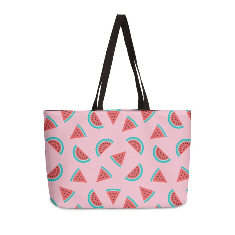 Watermelon Fruit Pattern Accessories Weekender Bag Bag by abstractocreate's Artist Shop