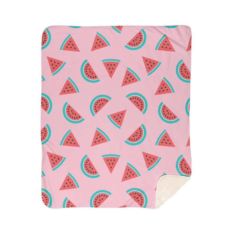 Watermelon Fruit Pattern Home Sherpa Blanket Blanket by abstractocreate's Artist Shop